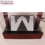 サングラスはロックのショッピングLEDショーボックス表示グラス飾り棚によって表示する