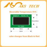 Collant auto-adhésif changeant d'étiquette d'indicateur de la température de couleur