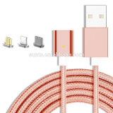 Novo cabo USB trançado Nylon Magneto cabo de dados de carregamento USB para Smartphone