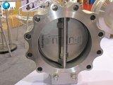 Horizontale Installatie API 594 Klep van de Controle van het Wafeltje van het Type van Handvat van de Plaat van het Koolstofstaal de Dubbele met de Speld van de Scharnier van het Roestvrij staal