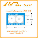 Étiquettes changeantes de couleur irréversible de température élevée