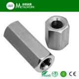 En acier au carbone galvanisé le couplage de l'écrou hexagonal en acier inoxydable (DIN6334)