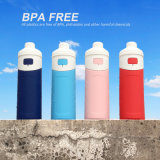 FDA-gebilligtes sicheres Silikon-zusammenklappbare Vakuumisolierungs-Flaschen