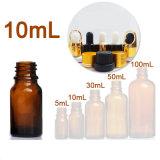 10ml Mini vacíos rellenables Aromaterapia contenedor de vidrio ámbar Cuentagotas Botella de aceite esencial de la Olla de viajes