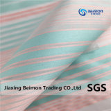 100% полиэстер Rainbow Organza полосы ткани для мода платья