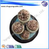 Yjvp 1 Core isolés en polyéthylène réticulé à gaine PVC du câble de puissance blindées