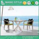 Rattan ajustado de jantar ao ar livre que tece jantando do pátio de vime da tabela de jantar do jardim da cadeira o projeto de tecelagem do hotel do jogo de café que janta jogo de jantar moderno ajustado