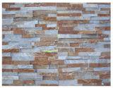 Ferrugento revestimento de paredes exteriores de ardósia Amarelo Cultura folheado de pedra azulejos do Castelo