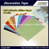 Tamaño A4 color autoadhesivo de papel cartón Glitter Glitter