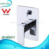 Latón de alta calidad en blanco y cromo desviador de ducha