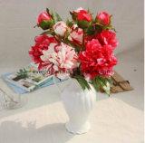 Il commercio all'ingrosso bianco artificiale di seta del Peony fiorisce i fiori falsi che Wedding il Peony del Faux ed il fiore artificiale del Hydrangea
