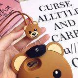 Netter Teddybär-Silikon-Handy für iPhone 8 Fall