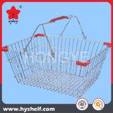 Panier à provisions de fil pour le supermarché au détail