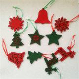 As embarcações de feltro lã artesanais bolas de Natal de feltro ornamentos de feltro a granel