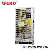 Type mince bloc d'alimentation à sortie unique de commutation de 250W 12V (LRS-250-12)
