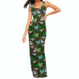 Традиционное африканское платье Kitenge конструирует одежду пляжа лета женщин