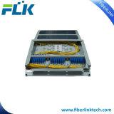 Allegato del quadro d'interconnessione di fibra del supporto di cremagliera con trasparente
