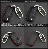 La clave de cuero negro Funda Llavero Bolsa de la cadena de titular de la tapa encaja para Audi