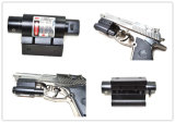 Vista roja del laser de la pistola del rifle táctico del arma con el montaje del tejedor