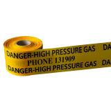 Il tubo sotterraneo che protegge l'avvertenza rilevabile lega il nastro con un nastro d'avvertimento ricoperto del PE del di alluminio