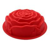 Certificat de la FDA de nouveau produit matériel de qualité alimentaire moule à cake en silicone, de taille moyenne a augmenté de forme moule à cake en silicone/pudding moule