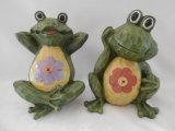 Decorazione della rana del giardino della resina