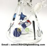بايسبول تصميم زجاجيّة أنابيب كأسات [7مّ] سماكة يدخّن أنابيب زجاجيّة