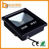 IP67高い明るさCRI>80 >90lm/W 30Wの屋外の庭LEDのフラッドライト