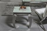 現代及び簡単なステンレス鋼ベースソファー表の側面表の端表のコンソールテーブルの居間の家具