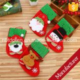 Calza d'attaccatura del pupazzo di neve del Babbo Natale dei calzini di natale la mini insacca il regalo di natale