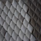 Het witte Bruine Mozaïek van de Steen van de Vorm van de Chocolade Romboïdale Marmeren met Punten