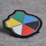 Fita de alta qualidade Cutomized / Tecidos de Badge com fronteira Merrow
