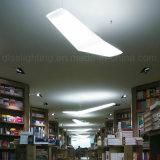 Lámpara pendiente de acrílico moderna para la decoración de la sala de conferencias que cuelga la iluminación del LED