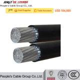 Ausführliche zusammengerollte Kabel-Luftbedingung