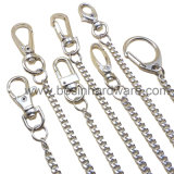 Metallgeteilter Schlüssel-Ring mit Kette u. Schraube