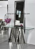 現代電光形のステンレス鋼のコンソールテーブルの側面表の端の卓上スタンド表の食堂の居間の家具
