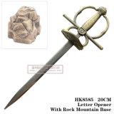 Senhor da espada do anel de espadas da decoração da tabela das espadas do cavaleiro do abridor de letra de Narsil