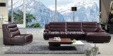 Home Furntiure italiano grande sofá de canto H-9138 sofá de couro