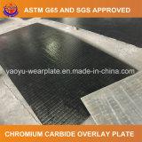 Plaque d'usure avec le recouvrement de carbure de chrome