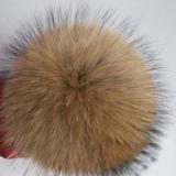 De luxueuze Harige Pompon van het Bont van de Wasbeer van de Strook van het Bont van de Wasbeer van Keychain van de Bal