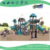 De openlucht Speelplaats van het Staal van de Boom van het Dak van Bladeren Huis Gegalvaniseerde die met de Dia van Kinderen (Hg-10402) wordt geplaatst