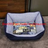 Produto de PET de lona impressa pequeno Médio Grande Casa Pet Cat Dog Almofada cama para dormir