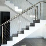 Prezzo di vetro dell'inferriata del metallo 316 di disegno moderno 304 del corrimano esterno dell'acciaio inossidabile