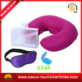 Office dormindo fácil transportar ao pescoço inflável PVC travesseiro