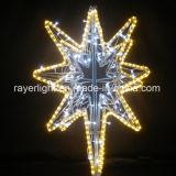 Lumières décoratives d'étoile de vacances de lumière de rideau en motif de bille de DEL