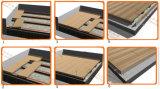 Le plancher en bois conçu par Decking extérieur décoratif WPC imperméabilisent le panneau
