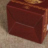 Logotipo personalizado Hot Stamping Caja de papel de color rojo para cosmética de impresión