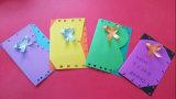 Tarjeta de felicitación del papel de imprenta, tarjeta modificada para requisitos particulares del diseño