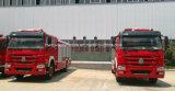De Vrachtwagen van de Motor van de Brand van Sinotruk HOWO 4X2 10 Ton van de Vrachtwagen van de Brandbestrijding