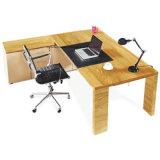 Mesa de escritório executiva da mesa do escritório de madeira com armário